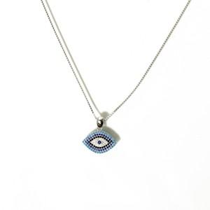 שרשרת עין אבנים כחולות