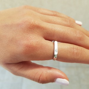 טבעת פלטה זירקון קטן