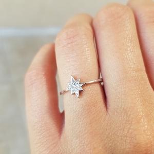 טבעת כוכב קטן משובץ