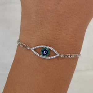 צמיד עין ירוקה כחולה