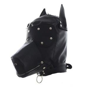 כיסוי ראש כלב דמוי עור עם רוכסן