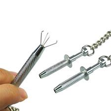 מצבטי טוויזר עם זרועות דקיקות מחוברים בשרשרת