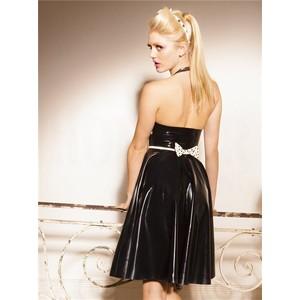 שמלת לייטקס חלומית בשחור לבן