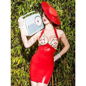 שמלת לייטקס מיני רטרו Rendez Vous