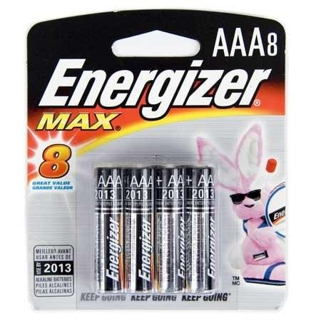 סוללות AAA מתוצרת אנרג'ייזר במארז 8