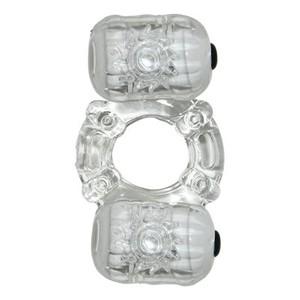 מאצ'ו - טבעת רוטטת זוגית כפולה שקופה
