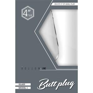 פלאג אנאלי עשוי זכוכית בצורה קלאסית