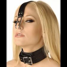 קולר דמוי עור איכותי עם וו לאף Nose Hook