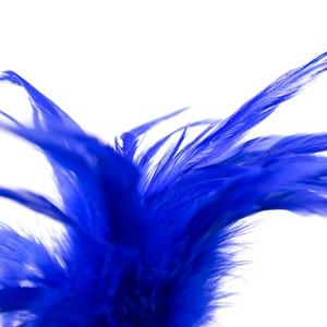 נוצת דגדוג קצרה בצבע כחול