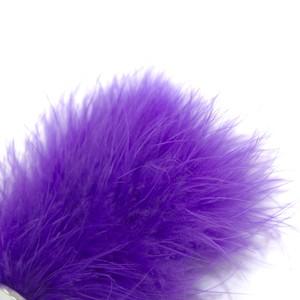 פלאג מתכת עם זנב ארנבת בצבע סגול