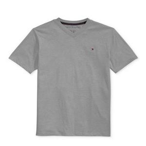 חולצת טומי אפורה V לוגו קטן