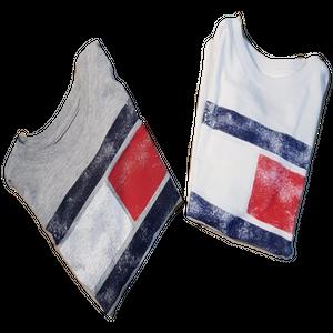 חולצת טומי טי שרט דגל אפור