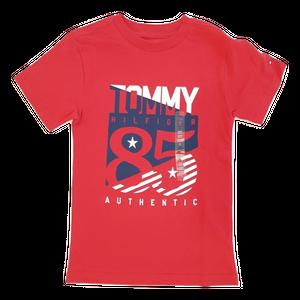 חולצת טומי טי שרט קצרה אדום  לוגו 85 כוכבים
