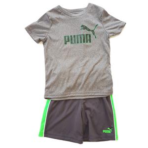 סט פומה מכנס אפור ירוק וחולצה אפורה