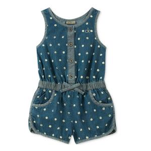 שמלת קלווין קליין מכנס ג'ינס עם נקודות לבנות