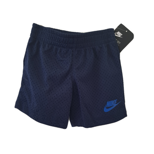 נייק סט מכנס קצר כחול כהה חורים וחולצה DRI-FIT אפורה
