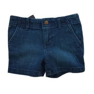 TOMMY HILFIGER ג'ינס קצר טומי כחול כהה