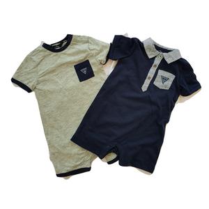 GUESS סט סגדי גוף 2 חלקים צבעים  כחול ואפור