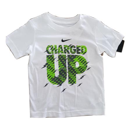 NIKE חולצת טי שרט לבנה לוגו ירוק