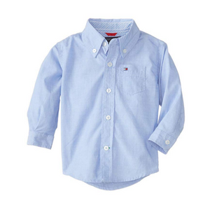 חולצת טומי בנים מכופתרת תכלת אושן