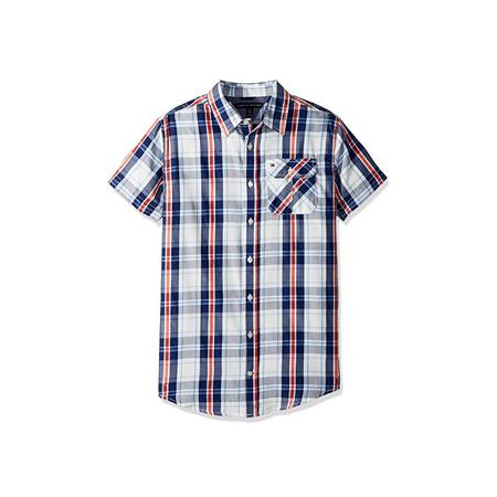 חולצה טומי מכופתרת פסים כחול אדום
