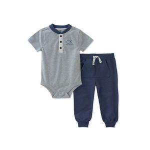 קלוין קליין סט 2חלקים: מכנס ארוך כחול רויאל ובגד גוף תכלת