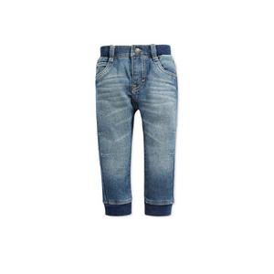 ג'ינס ליוויס ארוך כחול בהיר משופשף