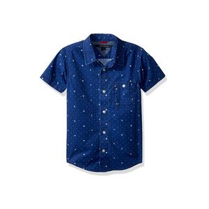 חולצת טומי מכופתרת כחולה לוגו 85