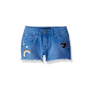 גינס טומי קצר כחול עם לב קשת
