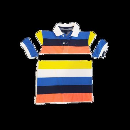 חולצת טומי 2 כפתורים פסים צבעוניים
