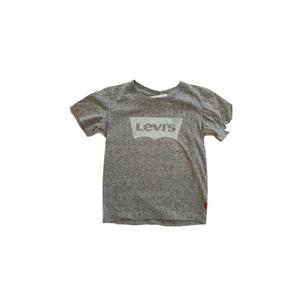 LEVI'S טי שרט אפורה לוגו ליוויס