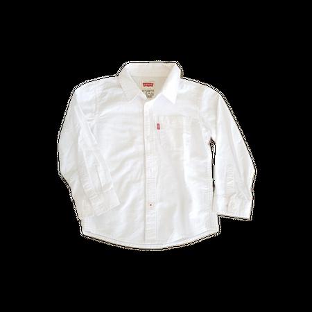 חולצת ליוויס מכופתרת לבנה