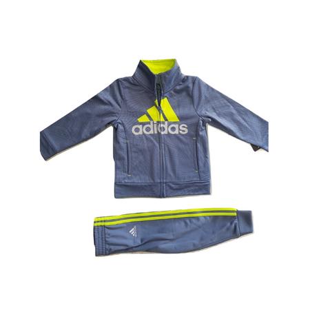 ADIDAS- חליפת ספורט אדידס ארוכה אפור זוהר