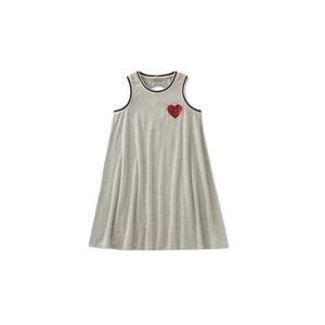 שמלת גופייה אפורה CK לב אדום בצד