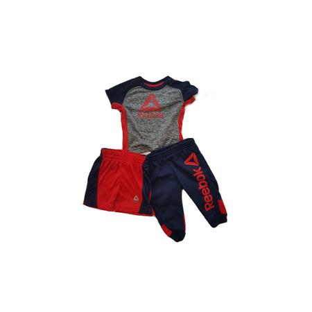 REEBOK סט 3 חלקים ריבוק מכנס כחול ו 2 חולצות