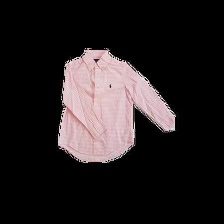 חולצת פולו ראלף לורן מכופתרת ורוד משבצות