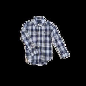 חולצת פולו ראלף לורן מכופתרת כחול לייט משבצות