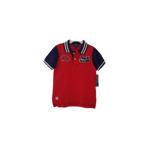 RALPH LAUREN חולצת פולו מגבת אדום כחול