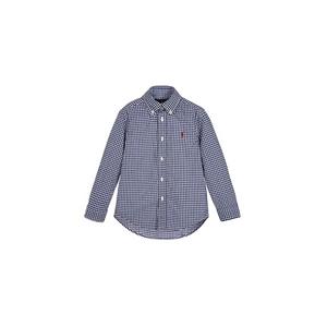 חולצת פולו ראלף לורן מכפותרת כחולה פסים