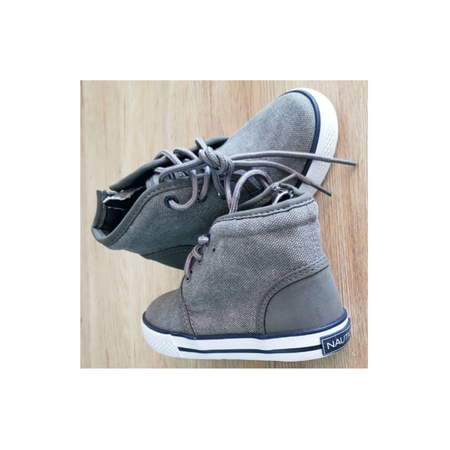 NAUTICA נעלי בנים אפורות גבוהות