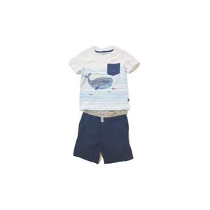 נאוטיקה סט חולצה לבנה לוגו ליוויתן וברמודה כחולה