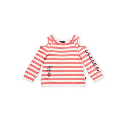 NAUTICA-  חולצת פסים עם כתפיים פתוחות