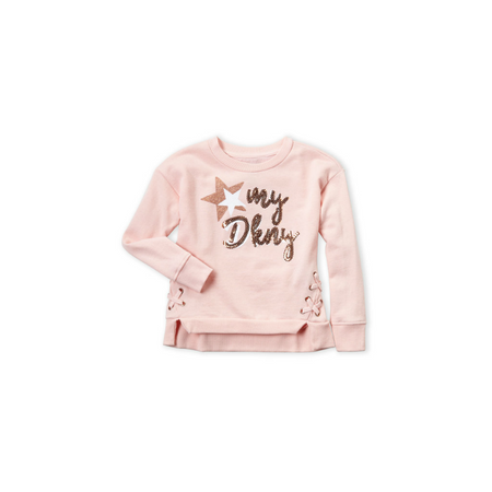 DKNY- סווטשירט ורודה דגם sequin