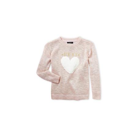DKNY- סוודר ורוד לב דגם lurex