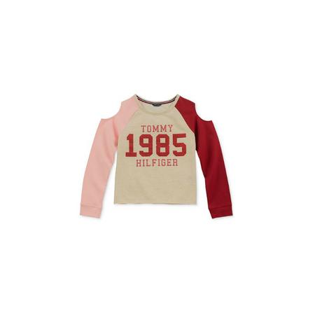 TOMMY HILFIGER- חולצת טומי בנות ללא כתפיות דגם coldsh
