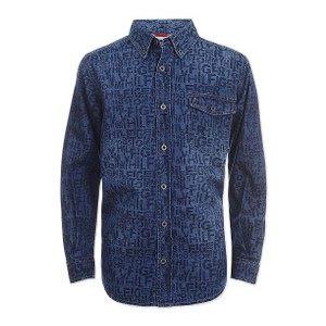 TOMMY HILFIGER-  חולצת ג'ינס מכופתרת דגם bill denim