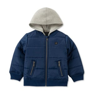 CALVIN KLEIN-  מעיל קפוצו'ן כחול דגם layered look