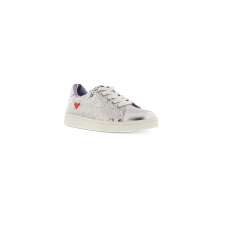 TOMMY HILFIGER- נעלי סניקרס כסופות דגם alvina poe
