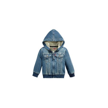 LEVI'S- ג'קט ג'ינס רוכסן דגם knit hoodie