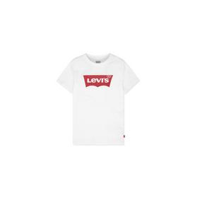 LEVI'S- טי שרט ליוויס לוגו לבנה קצרה